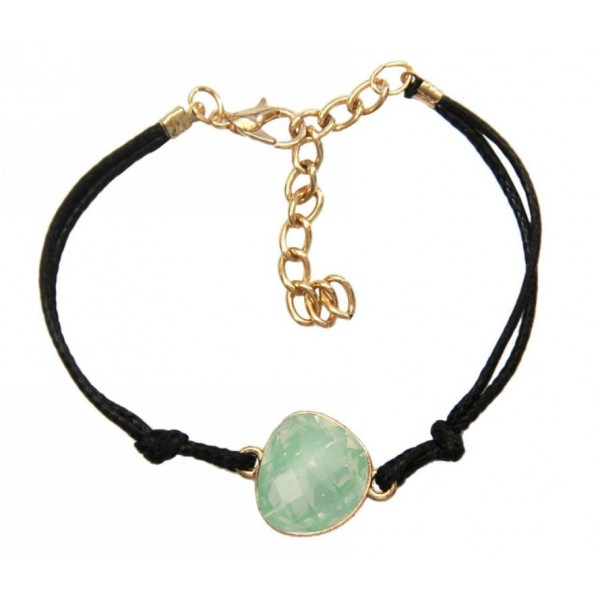 Bracelet with cord and crystal