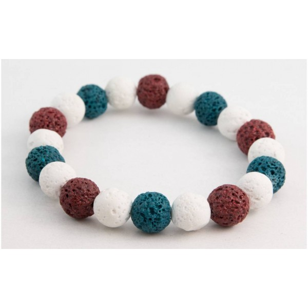 Bracelet with Lava pearls