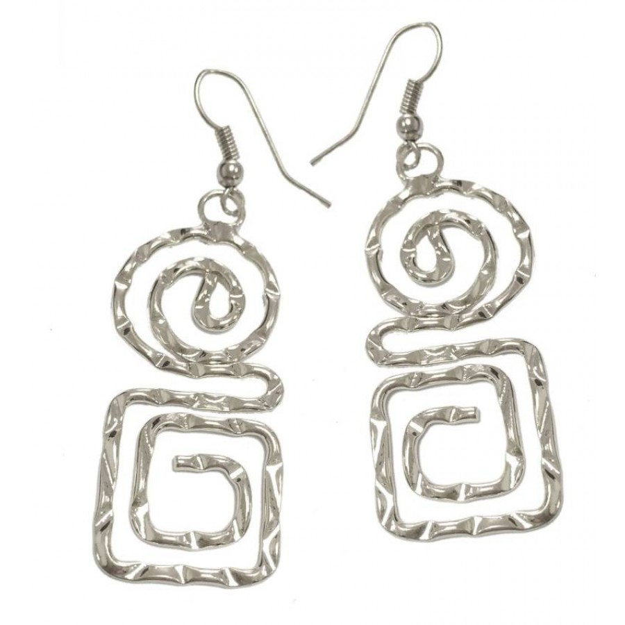 Earrings with metal forged elements