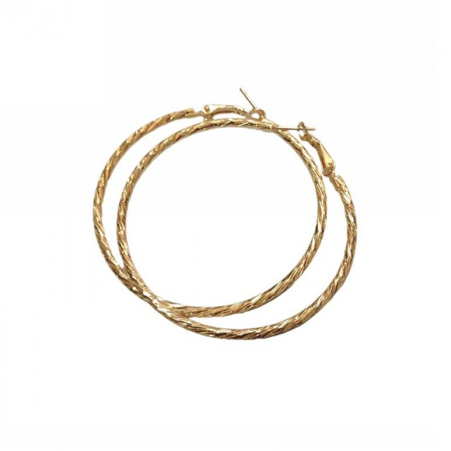 Earrings ring shaped 5 cm in diameter