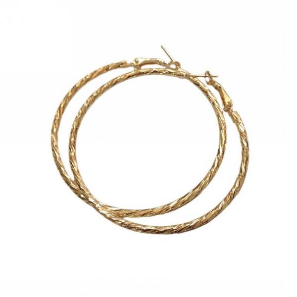 Earrings ring shaped 6 cm in diameter