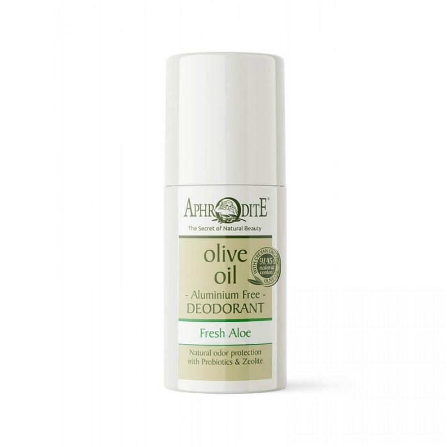 "APHRODITE Aluminum Free Deodorant Roll-on ""Fresh Aloe"" 50ml / 1.70 fl oz"