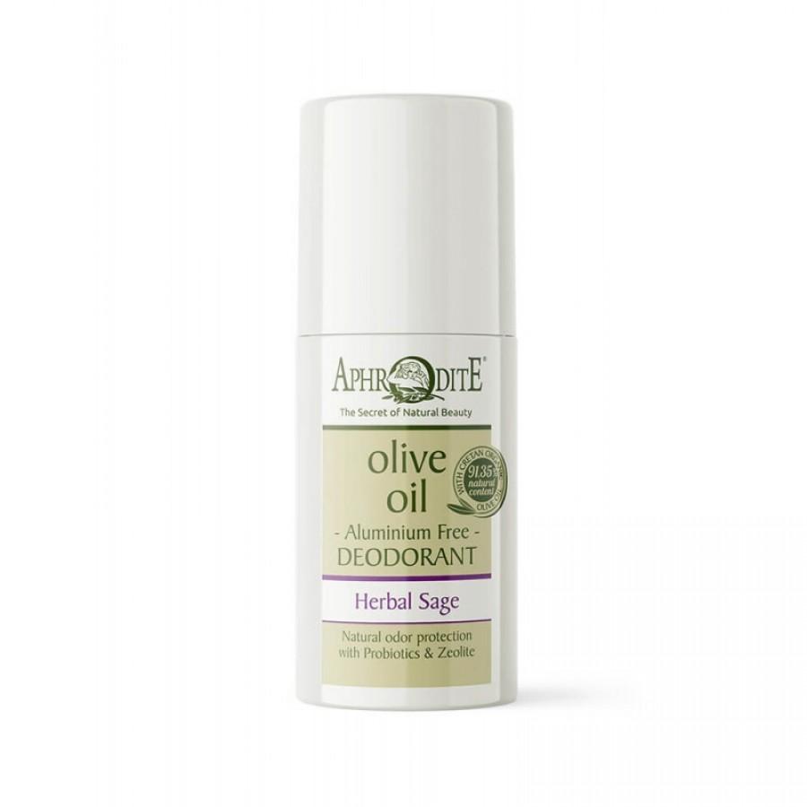 "APHRODITE Aluminum Free Deodorant Roll-on ""Herbal Sage"" 50ml / 1.70 fl oz"