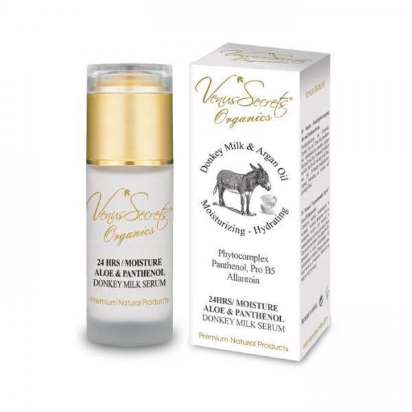 24 Hours Moisture Serum Donkey Milk with Aloe Vera and Panthenolfor Face and Neck 40ml