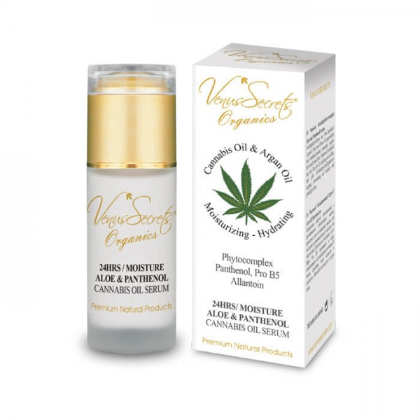 24 Hours Moisture Cannabis Oil Serum with Aloe and Panthenolfor Face and Neck 40ml