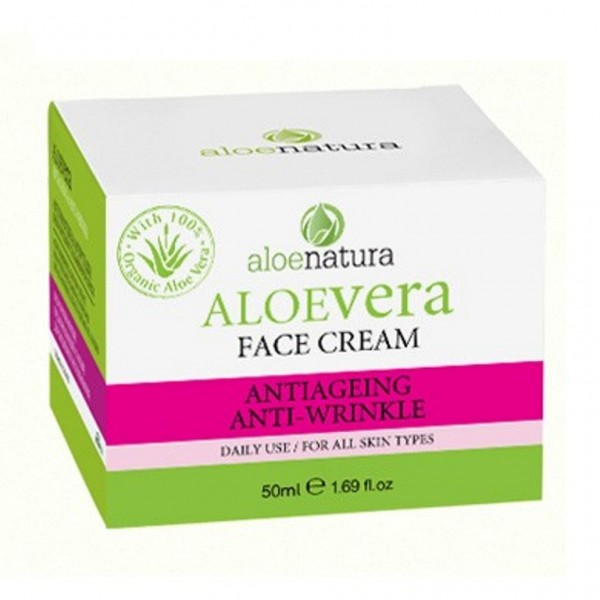 Aloe Natura Face Antiageing-Antiwrinkle Cream 50 ml