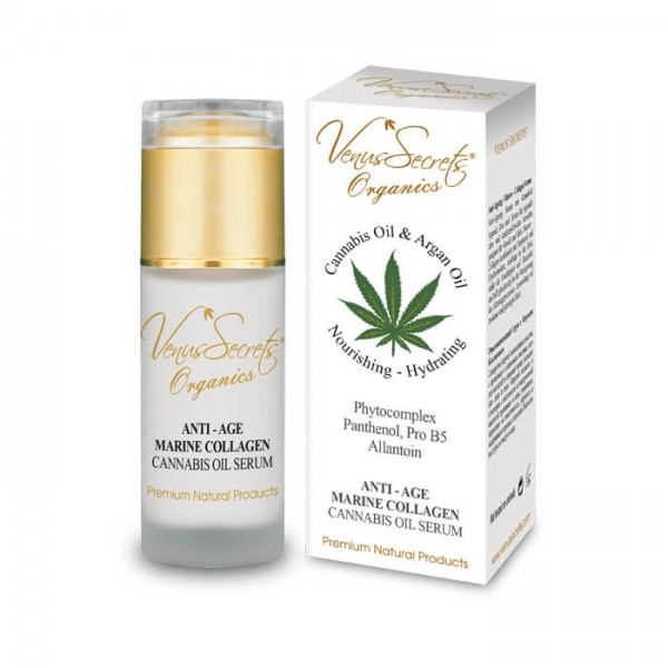 Anti-Age Marine Collagen Serum Cannabis Oil for Face and Neck 40ml