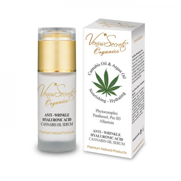 Anti-Wrinkle Hyaluronic Acid Serum Cannabis Oil and Argan Oil for Face and Neck 40ml