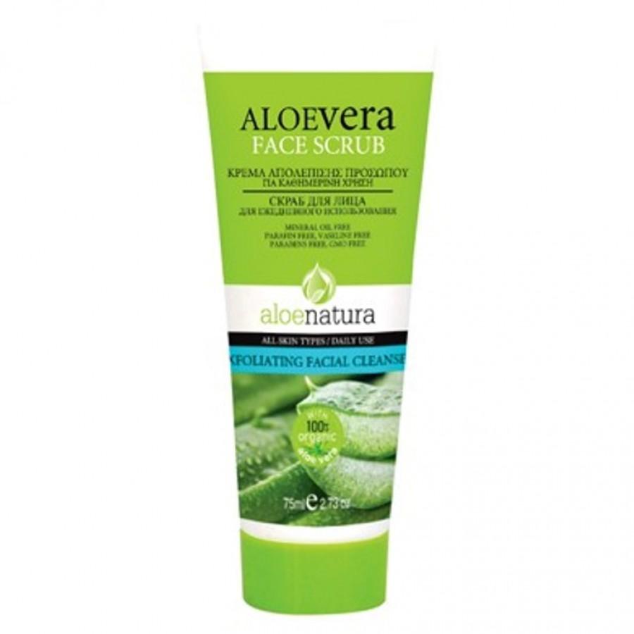Aloe Natura Exfoliating Face Scrub – Facial Cleanser 75 ml