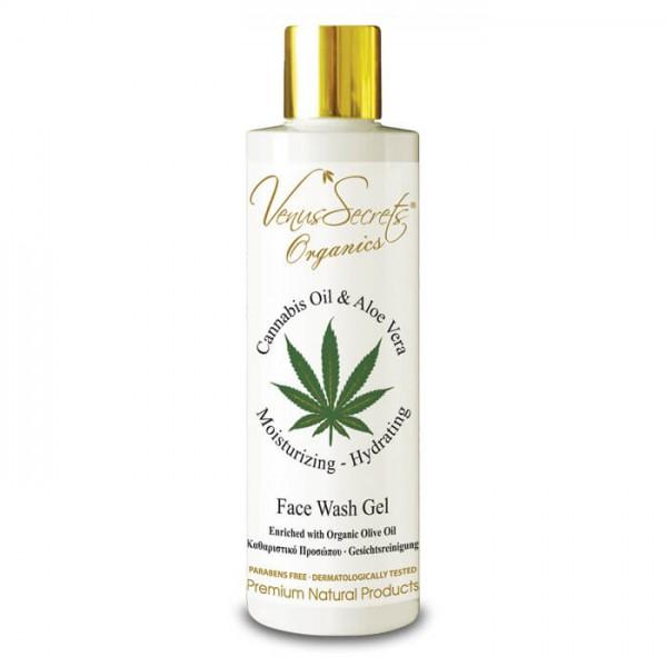 Face Wash Gel Cannabis Oil with Aloe Vera 250ml