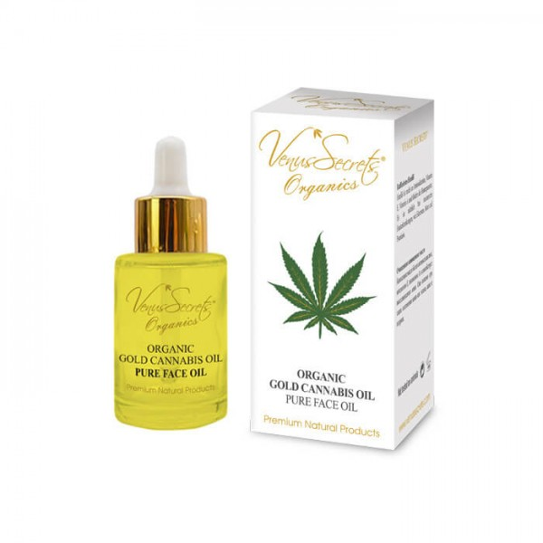 Organic Gold Cannabis Face Oil Booster for Face and Neck 30ml