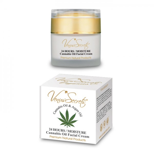 24 Hours Moisture Face Cream Cannabis Oil and Argan Oil 50ml