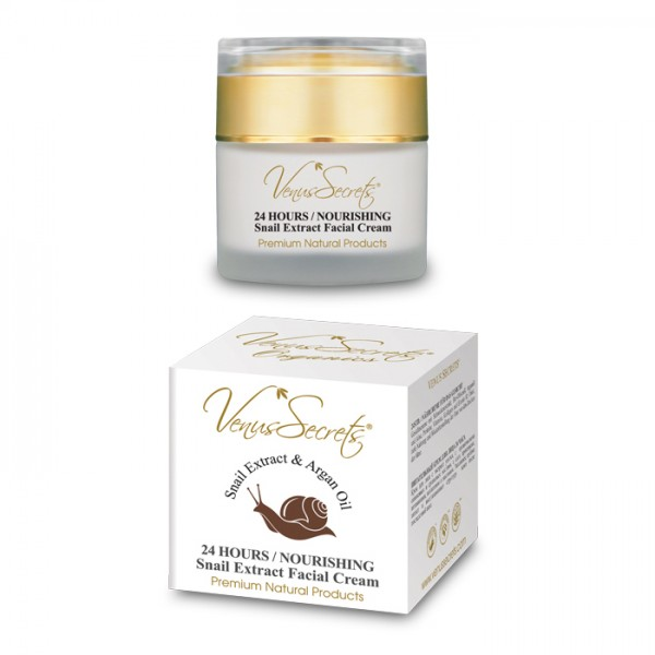 24 Hours Nourishing Snail Extract Face Cream with Argan Oil 50ml