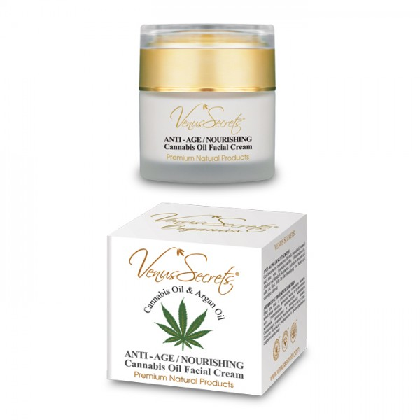 Anti-Age Nourishing Facial Cream Cannabis Oil and Argan Oil 50ml