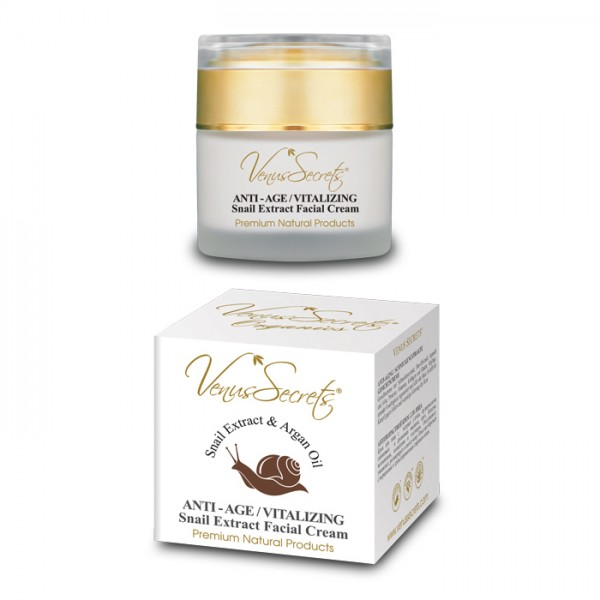 Anti-Age Vitalizing Snail Extract Face Cream with Argan Oil 50ml