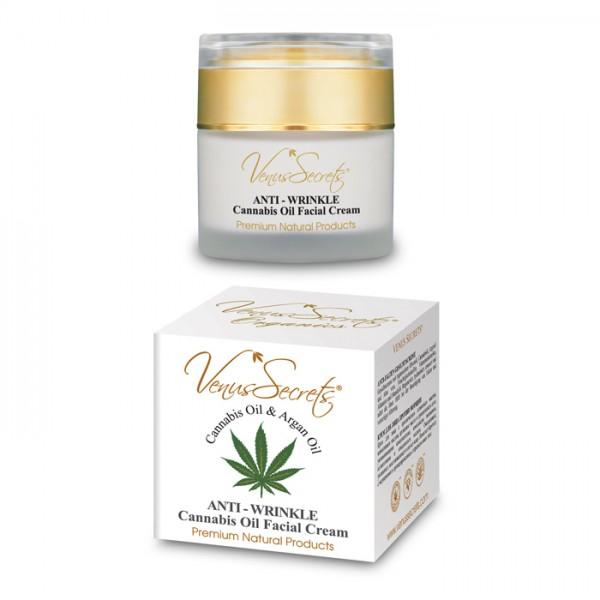 Anti-Wrinkle Face Cream Cannabis Oil and Argan Oil 50ml
