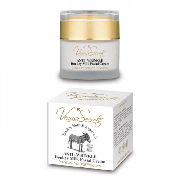 Anti-Wrinkle Face Cream Donkey Milk with Argan Oil 50ml