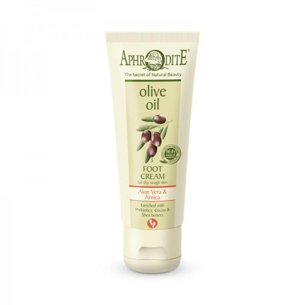 APHRODITE Extra soft Foot Cream with Aloe Vera & Prebiotics for dry/rough skin 75ml / 2.53 fl oz