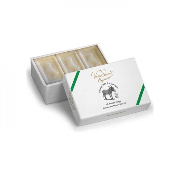 Soap Donkey Milk and Aloe Vera 3 Soaps in Box 450g (3x150g)