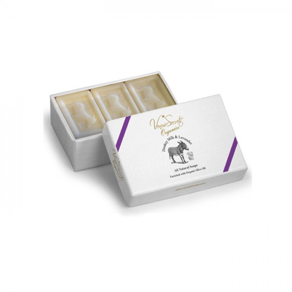 Soap Donkey Milk and Lavender 3 Soaps in Box 450g (3x150g)