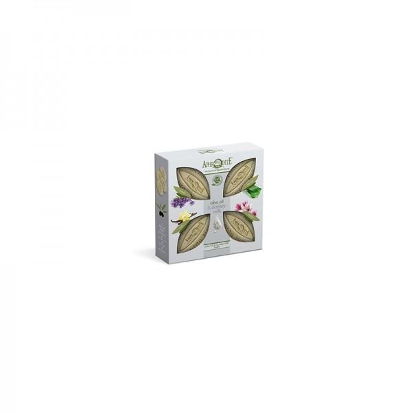 APHRODITE 4 Olive Oil & Donkey Milk Soaps Gift Set 340g / 11.50 oz