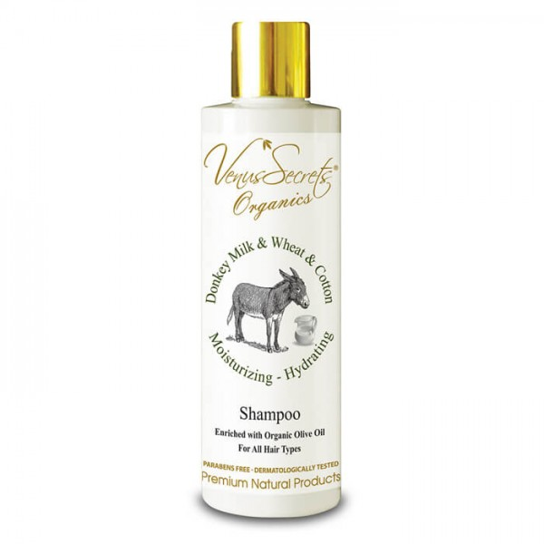 Shampoo Donkey Milk, Wheat and Cotton for All Hair Types 250ml