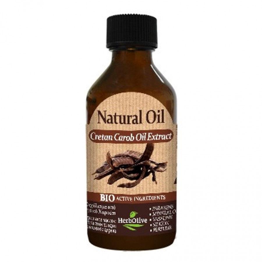 Herbolive Natural Cretan Carob Extract Oil 100 ml