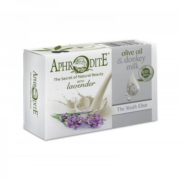APHRODITE Olive oil & Donkey milk Olive oil soap with Lavender  85g / 3.00 oz