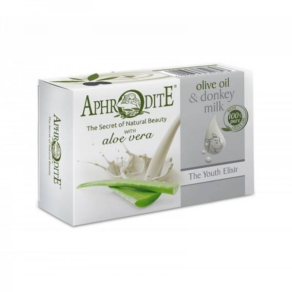 APHRODITE Olive oil & donkey milk soap with Aloe vera 85g / 2.87 oz