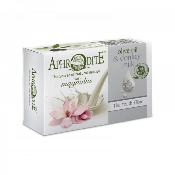 APHRODITE Olive oil & donkey milk soap with Magnolia scent 85g / 3.00 oz
