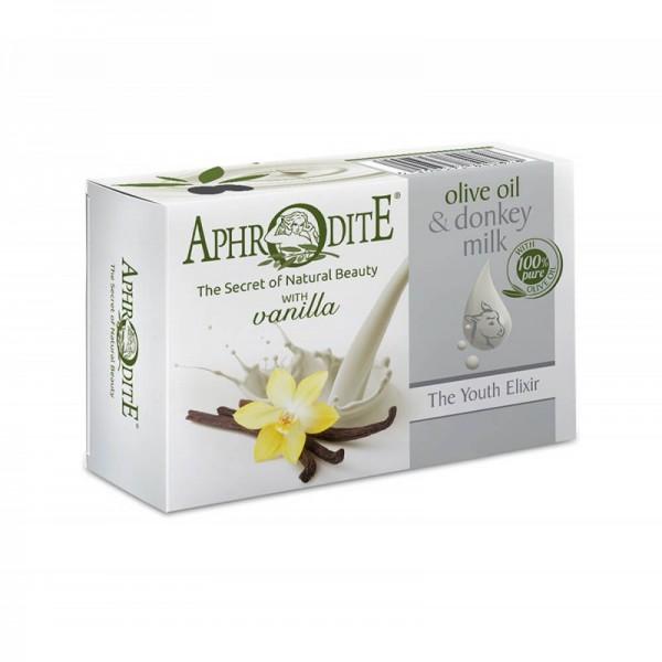 APHRODITE Olive Oil & Donkey Milk Soap with Vanilla scent 85g / 2.87 oz