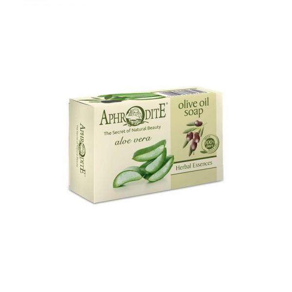 APHRODITE Olive oil soap with Aloe Vera 100g / 3.38 oz