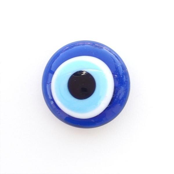 Glass Evil eye fridge magnet