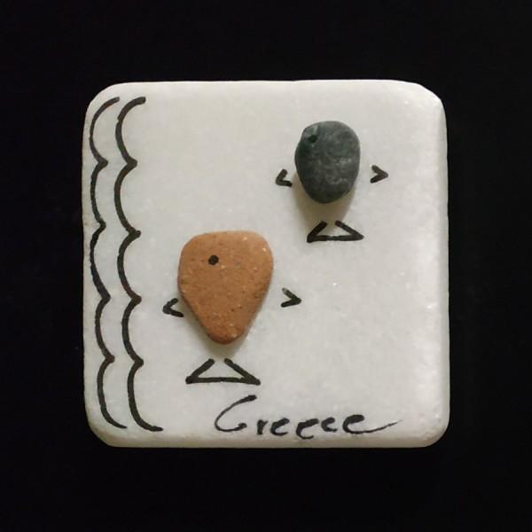 Fridge magnet made of natural materials Greece