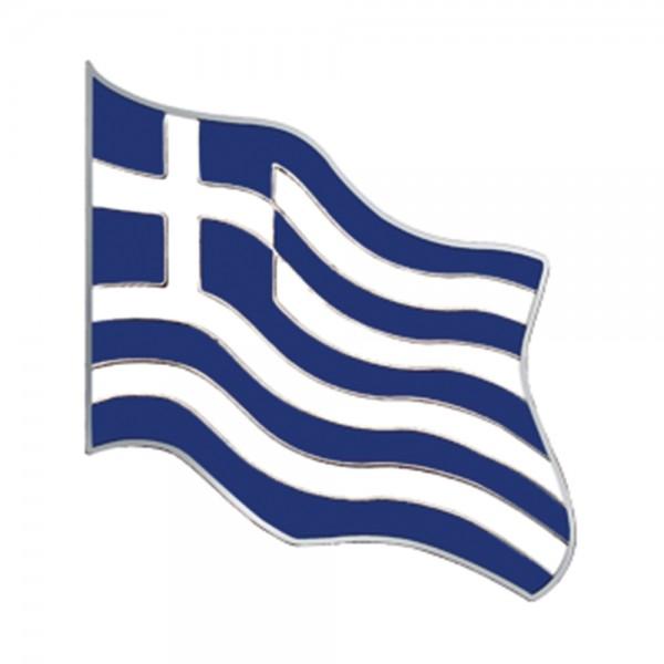 Metal Pin Greek Flag
