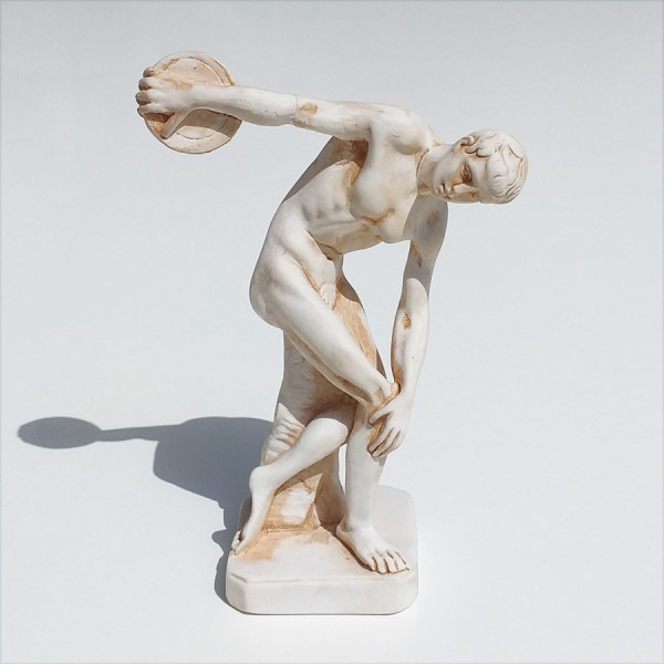 Greek Plaster Statue of Discobolus