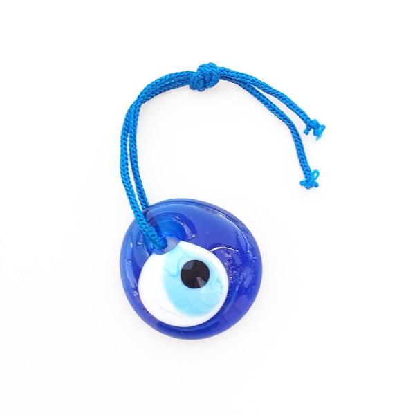 Blue Glass Greek Evil Eye 3 cm
