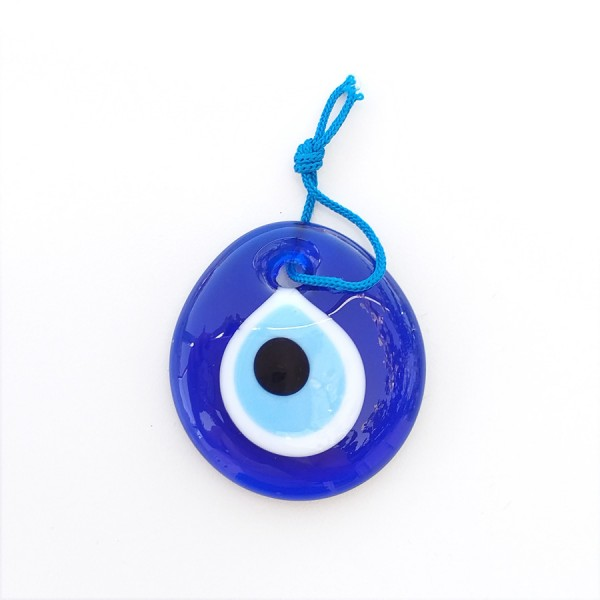 Blue Glass Greek Evil Eye 5 cm