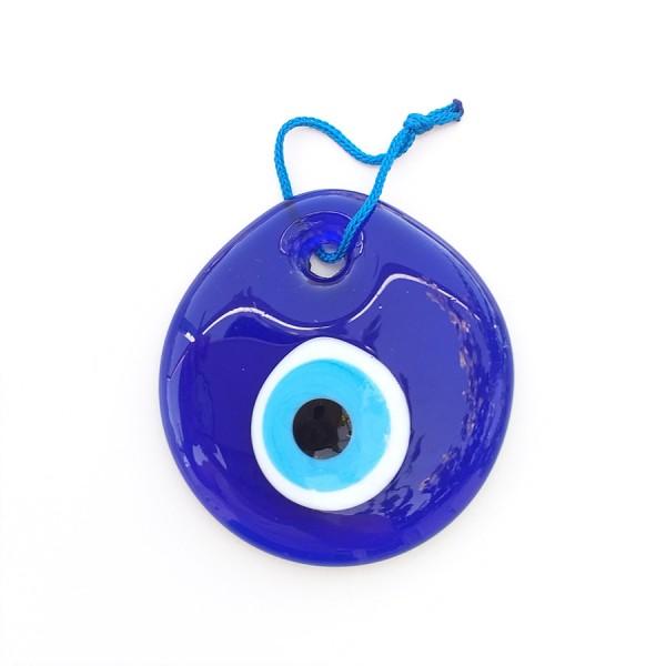 Blue Glass Greek Evil Eye 7 cm