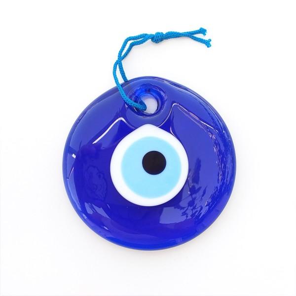 Blue Glass Greek Evil Eye 9 cm