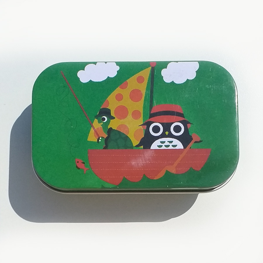 Olive oil soap in tin box